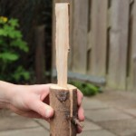 hout splijten met een mes