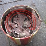 Teer of olie maken uit berken bast schors 05