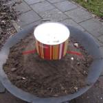 Teer of olie maken uit berken bast schors 07