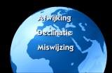 Afwijking, Declinatie, Miswijzing